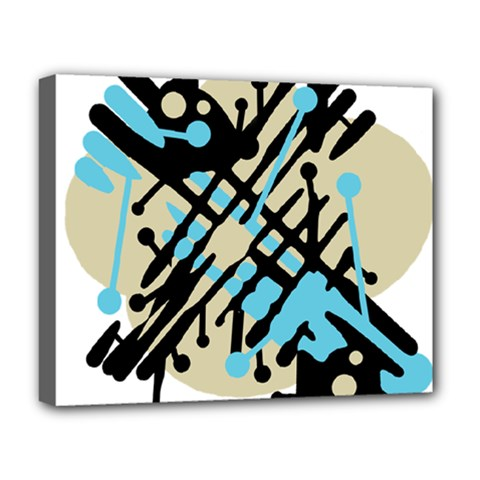 Abstract decor - Blue Deluxe Canvas 20  x 16
