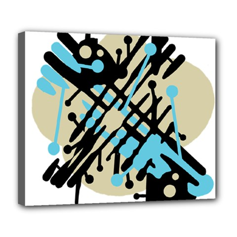 Abstract decor - Blue Deluxe Canvas 24  x 20