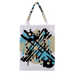 Abstract decor - Blue Classic Tote Bag