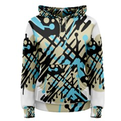 Abstract decor - Blue Women s Pullover Hoodie