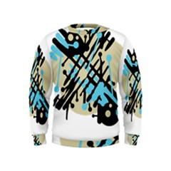 Abstract decor - Blue Kids  Sweatshirt