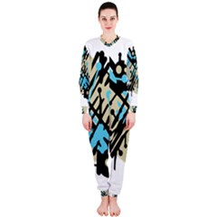 Abstract decor - Blue OnePiece Jumpsuit (Ladies)