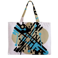 Abstract decor - Blue Medium Tote Bag
