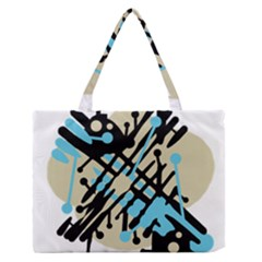 Abstract decor - Blue Medium Zipper Tote Bag