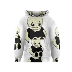 Halloween sad monster Kids  Pullover Hoodie