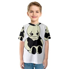 Halloween sad monster Kid s Sport Mesh Tee