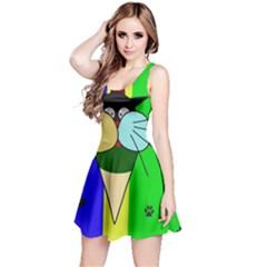 Ice cream cat Reversible Sleeveless Dress