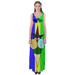 Ice cream cat Empire Waist Maxi Dress