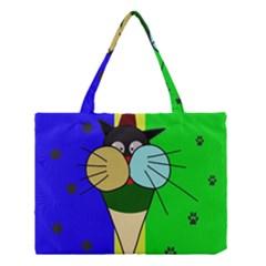 Ice Cream Cat Medium Tote Bag