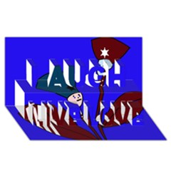 Soldier flowers  Laugh Live Love 3D Greeting Card (8x4)