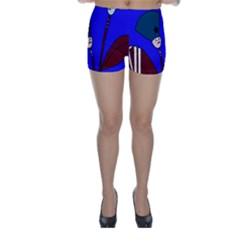 Soldier flowers  Skinny Shorts