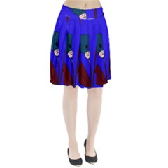 Soldier flowers  Pleated Skirt