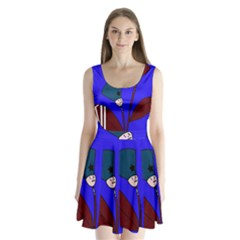 Soldier Flowers  Split Back Mini Dress