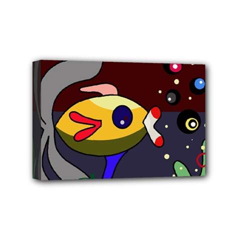 Fish Mini Canvas 6  x 4