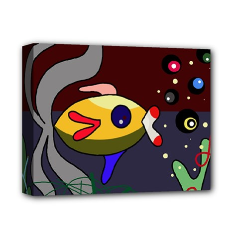 Fish Deluxe Canvas 14  x 11