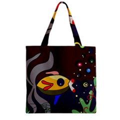 Fish Zipper Grocery Tote Bag