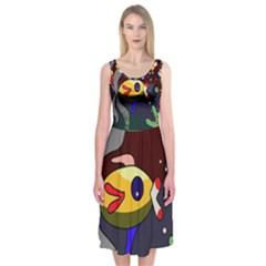 Fish Midi Sleeveless Dress