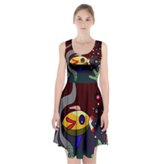 Fish Racerback Midi Dress