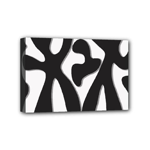 Black and white dance Mini Canvas 6  x 4