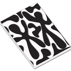 Black and white dance Large Memo Pads