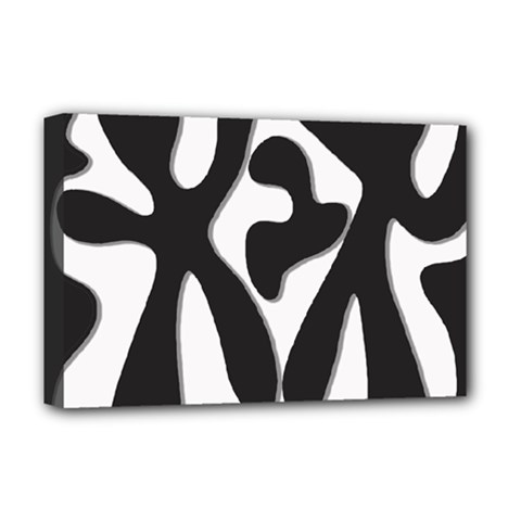 Black and white dance Deluxe Canvas 18  x 12