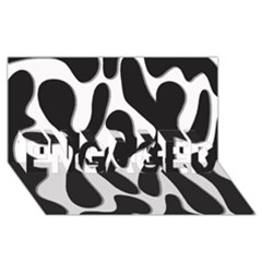 Black and white dance ENGAGED 3D Greeting Card (8x4)