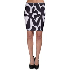 Black and white dance Bodycon Skirt