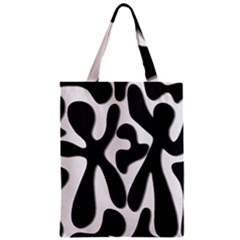 Black and white dance Zipper Classic Tote Bag
