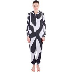 Black and white dance Hooded Jumpsuit (Ladies)