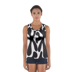Black And White Dance Women s Sport Tank Top
