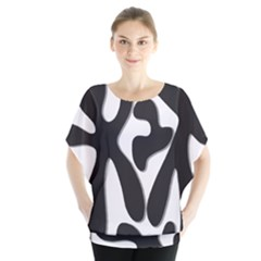 Black and white dance Blouse