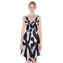 Black and white dance Racerback Midi Dress