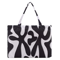 Black And White Dance Medium Zipper Tote Bag