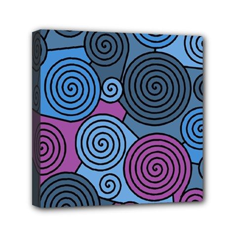Blue hypnoses Mini Canvas 6  x 6