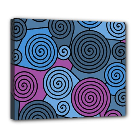 Blue hypnoses Deluxe Canvas 24  x 20