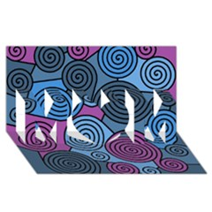Blue Hypnoses Mom 3d Greeting Card (8x4)