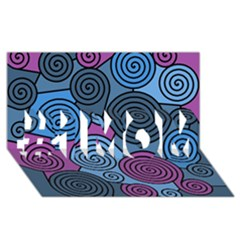 Blue hypnoses #1 MOM 3D Greeting Cards (8x4)