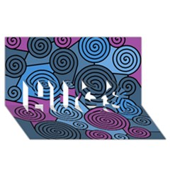 Blue hypnoses HUGS 3D Greeting Card (8x4)