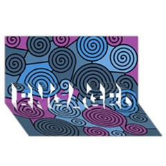 Blue hypnoses ENGAGED 3D Greeting Card (8x4)