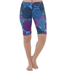 Blue hypnoses Cropped Leggings