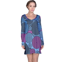 Blue hypnoses Long Sleeve Nightdress