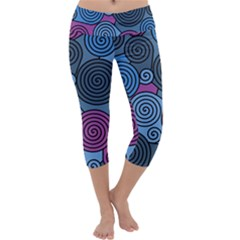 Blue Hypnoses Capri Yoga Leggings