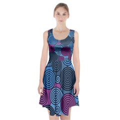 Blue hypnoses Racerback Midi Dress