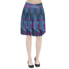 Blue Hypnoses Pleated Skirt