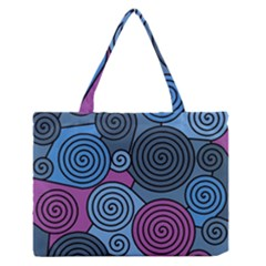 Blue hypnoses Medium Zipper Tote Bag