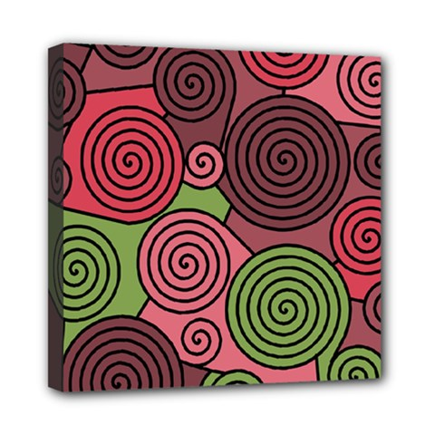 Red and green hypnoses Mini Canvas 8  x 8
