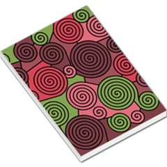 Red and green hypnoses Large Memo Pads