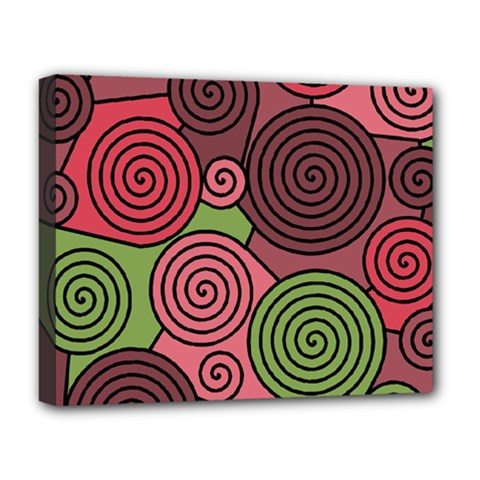 Red and green hypnoses Deluxe Canvas 20  x 16