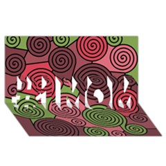Red and green hypnoses #1 MOM 3D Greeting Cards (8x4)