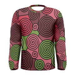 Red and green hypnoses Men s Long Sleeve Tee